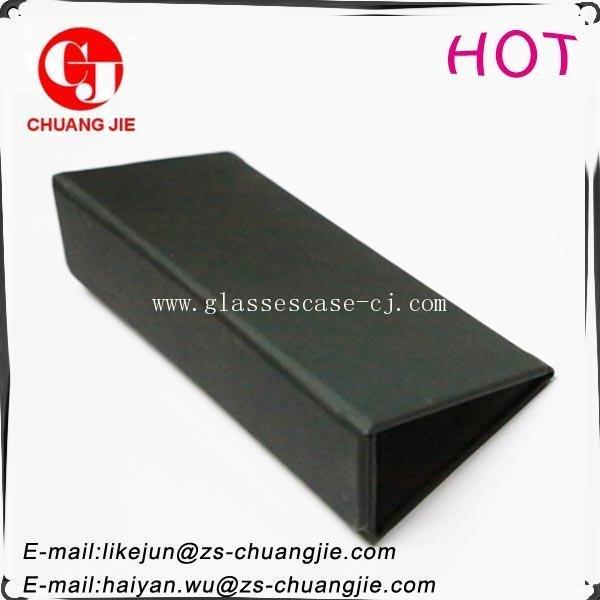 ChuangJie 8034 Black PU Handicraft Glasses Case